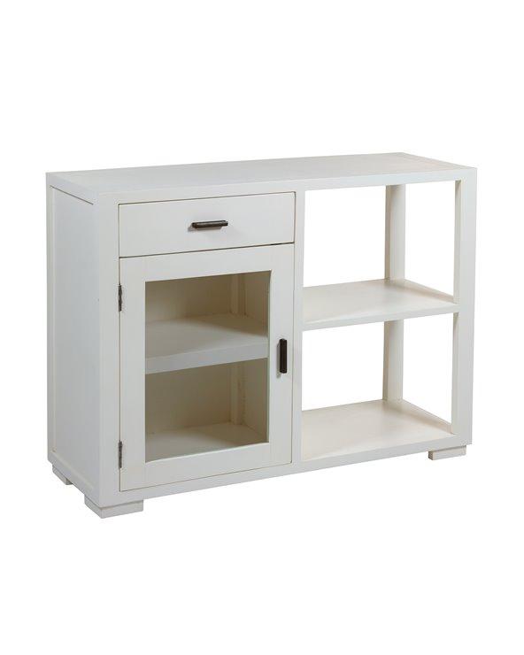 Table console blanche 1 tiroir