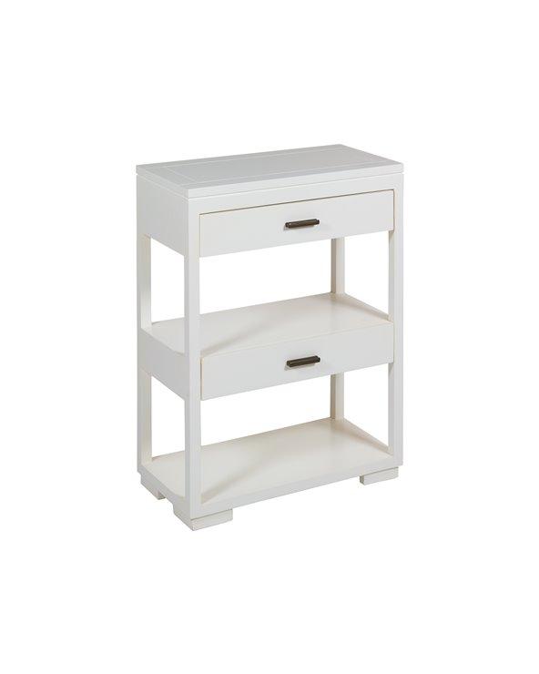 White 2 drawer shelving