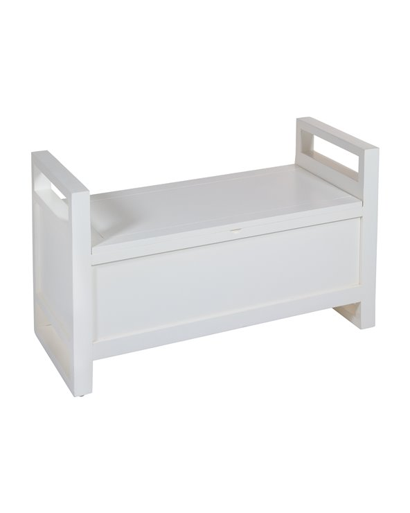White storage bench seat