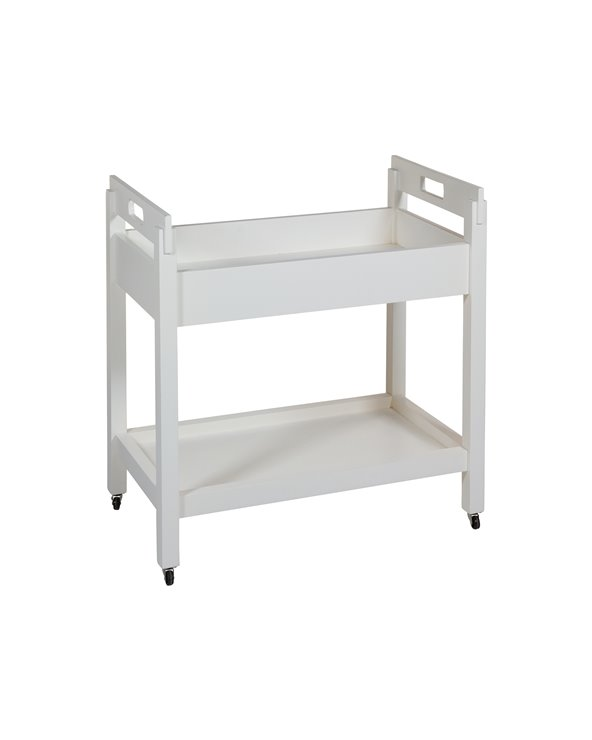 White Kitchen trolley with wheels