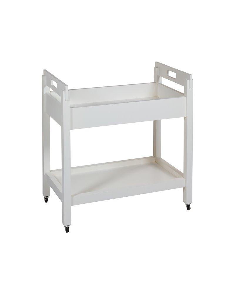 White Kitchen trolley with wheels