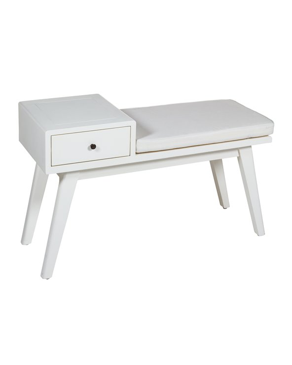 1 drawer bench Jenki white