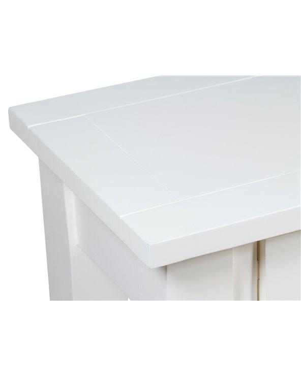 Consola 3 calaixos blanca