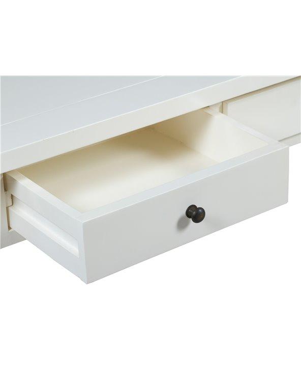 Consola 3 cajones blanca