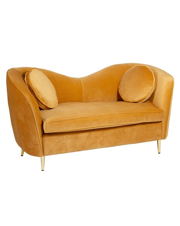 Canapé ovale ocre