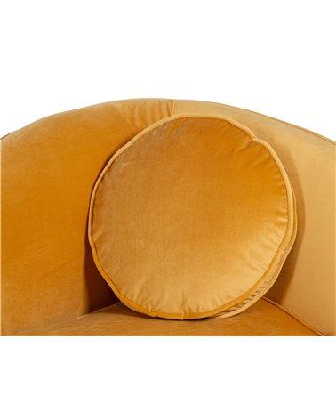 Sofà oval ocre
