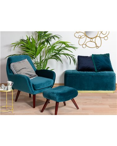 Brown Armchair with footrest