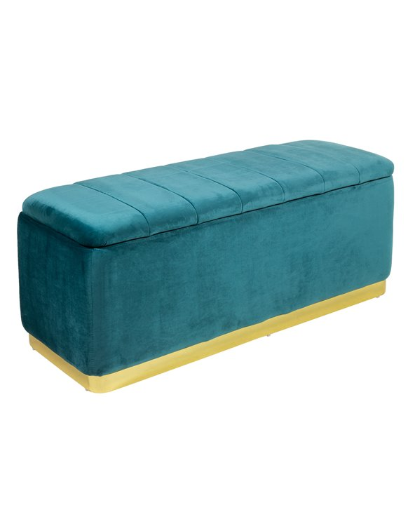 Green gold storage bench seat
