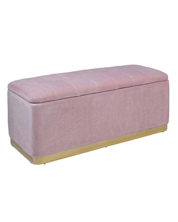 Rose gold storage bench seat