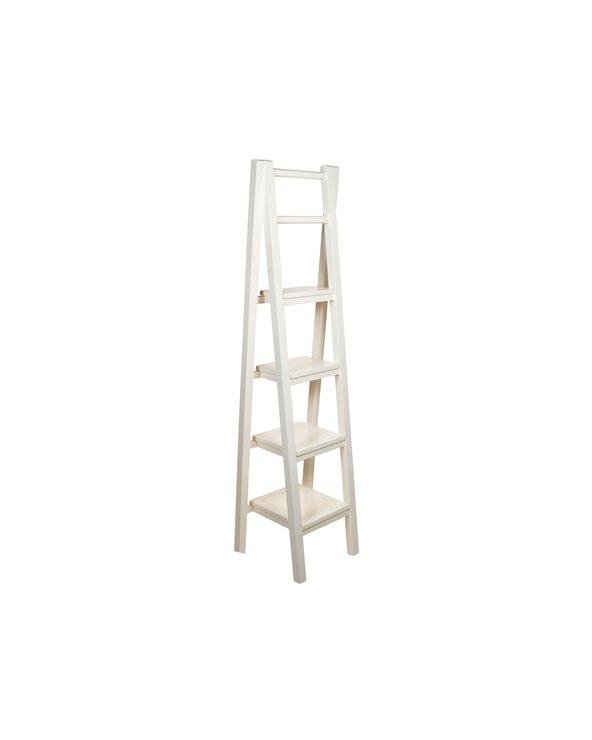Weißes Treppenregal