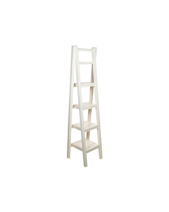 White staircase shelving