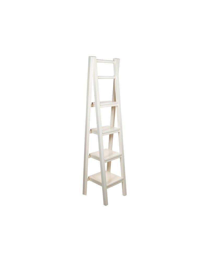 White staircase shelving