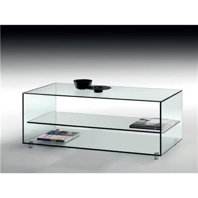 Table basse en cristal Kolet 105 cm