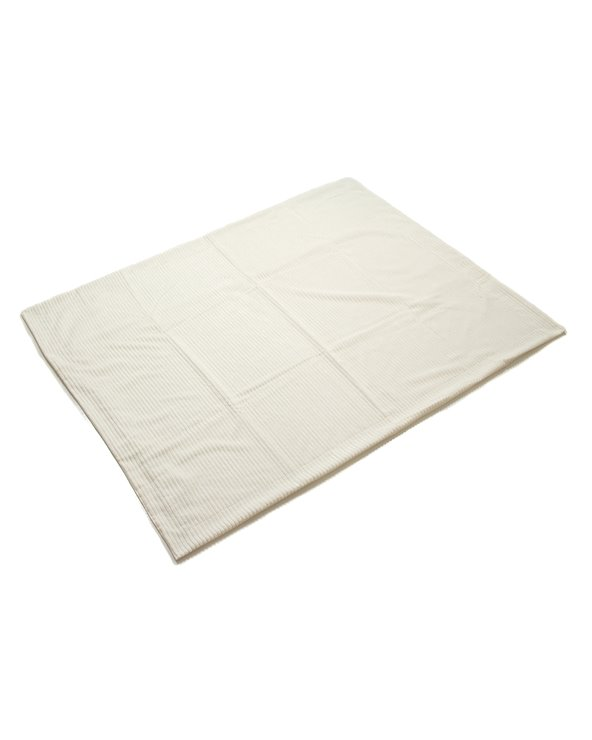 Corduroy fleece blanket, blanc