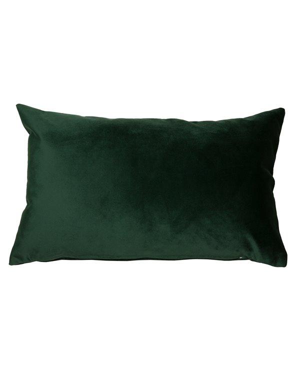 Coxín Velvet verde 30x50 cm
