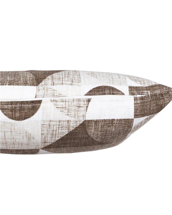 Cojín Damero marrón 30x50 cm
