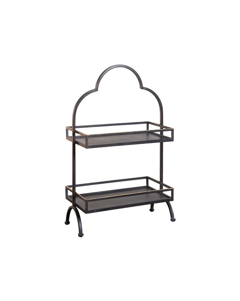 Mueble auxiliar con 2 estantes metal