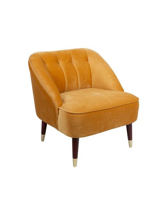 Cadeira de brazos Velvet ocre