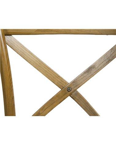 Silla madera respaldo en cruz