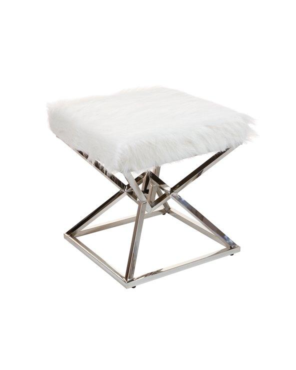 Banqueta blanca plata - Pirámide