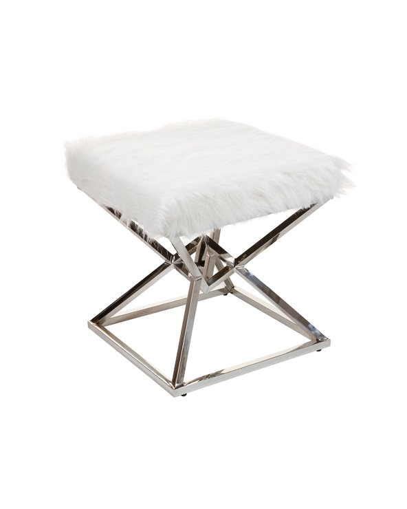 Silver white bench - Pyramid