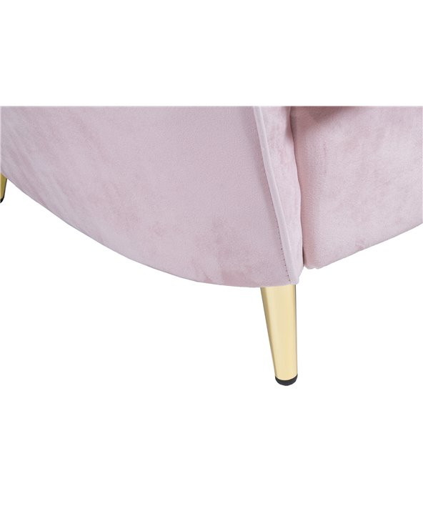 Pink oval armchair