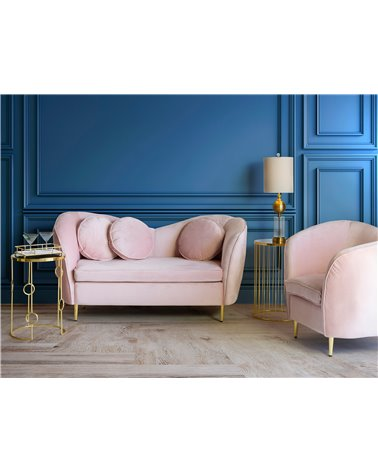 Sofà oval rosa