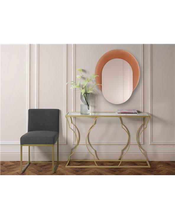 Espejo decorativo rosa