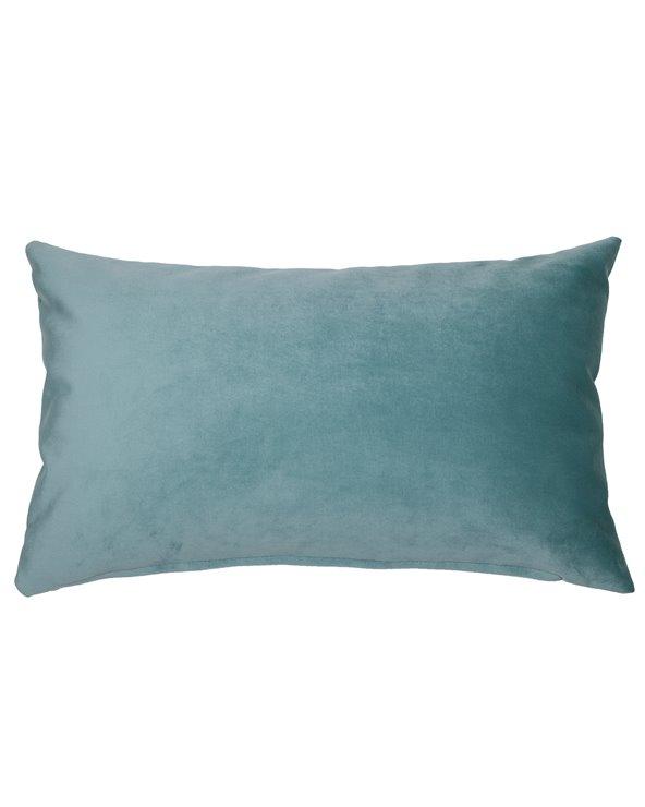 Coussin Velvet aqua 30x50 cm
