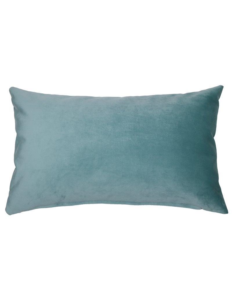Coxín Velvet aqua 30x50 cm