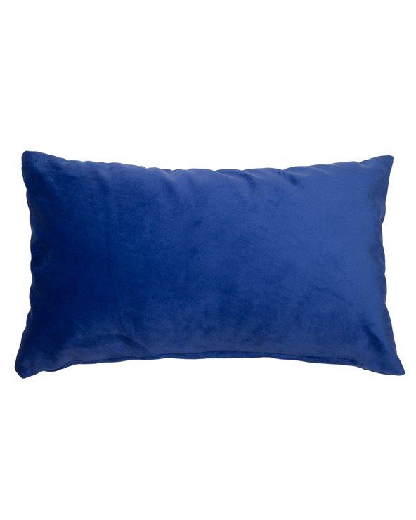 Coussin Velvet bleu 30x50 cm