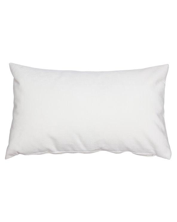 Coxín Velvet branco