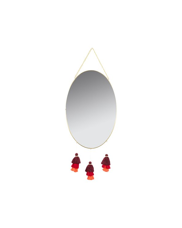 Miroir à pompons