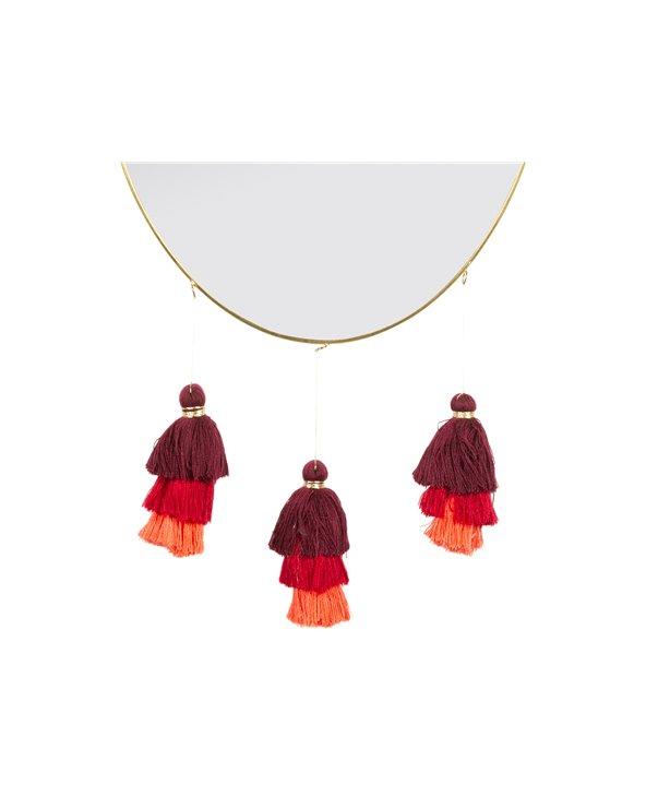 Espejo borlas