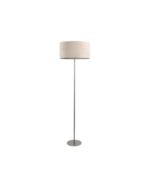 Beige corduroy floor lamp