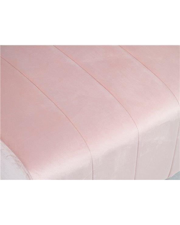 Pink Velvet bench
