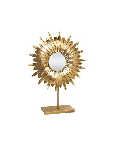 Metal table mirror