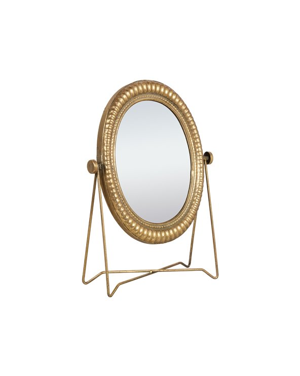 Miroir de table en métal