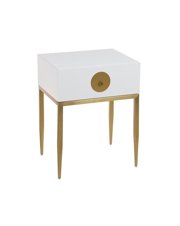 Classy white design coffee table