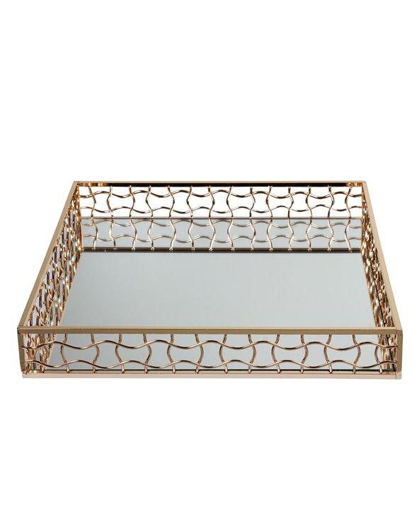 Gold decoration tray