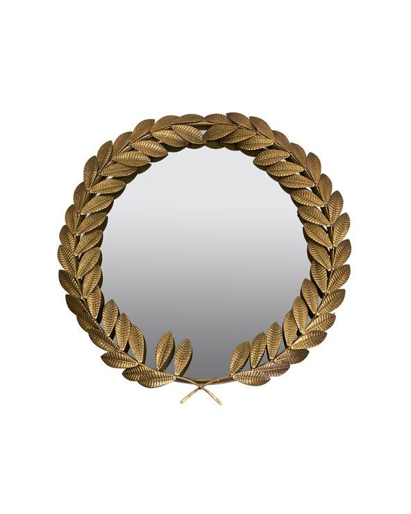 Miroir de feuilles de dorées