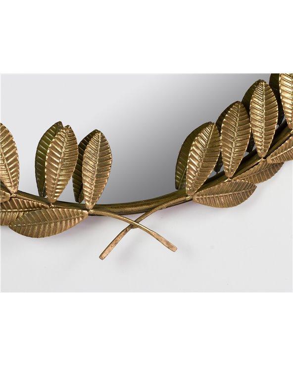 Espello dourado follas