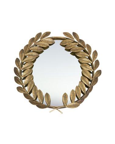 Espejo dorado hojas