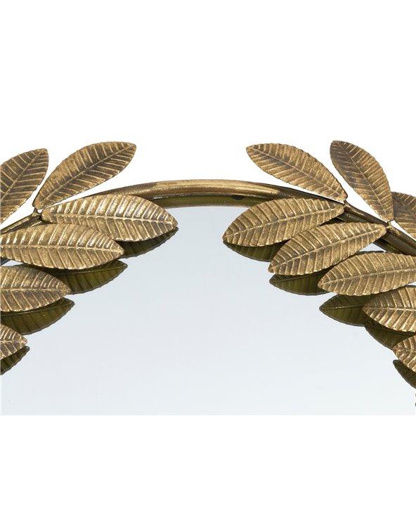 Golden mirror leaves