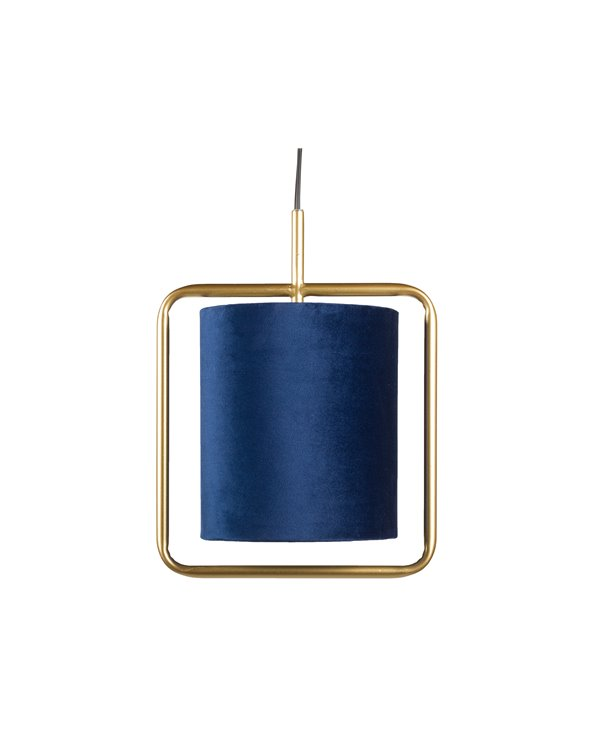 Blue ceiling lamp