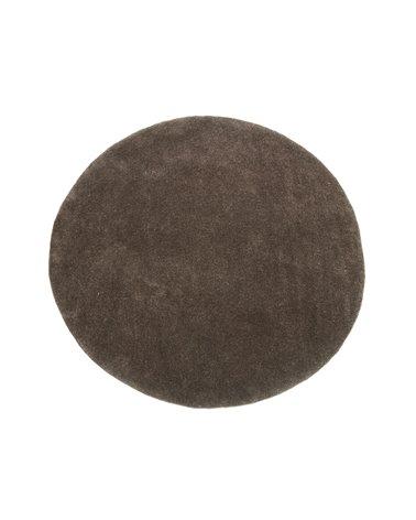Alfombra redonda marrón