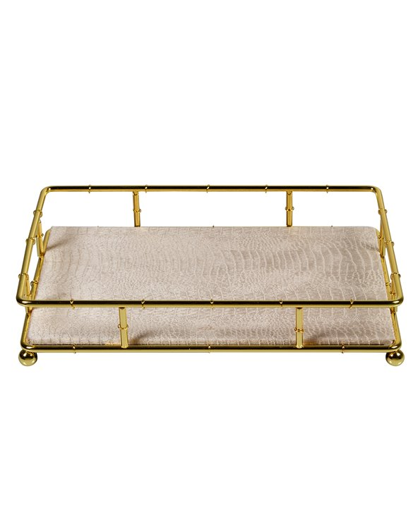 Bandeja de decoración oro
