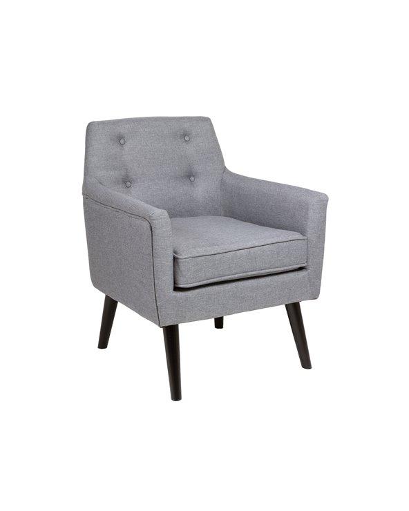 Cadeira de brazos Fabric gris