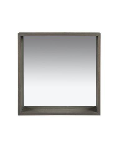 Set of 3 gray square mirrors