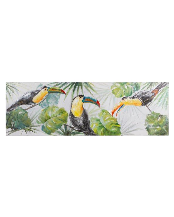 Cadro papagaios panorámico